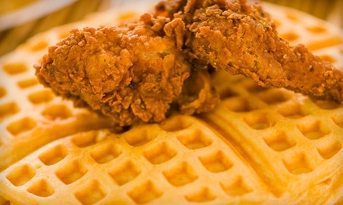 Lucky J's Chicken & Waffles - Brentwood: $10 for a Family-Size Shotcaller Meal at Lucky J's Chicken & Waffles ($20 Value)