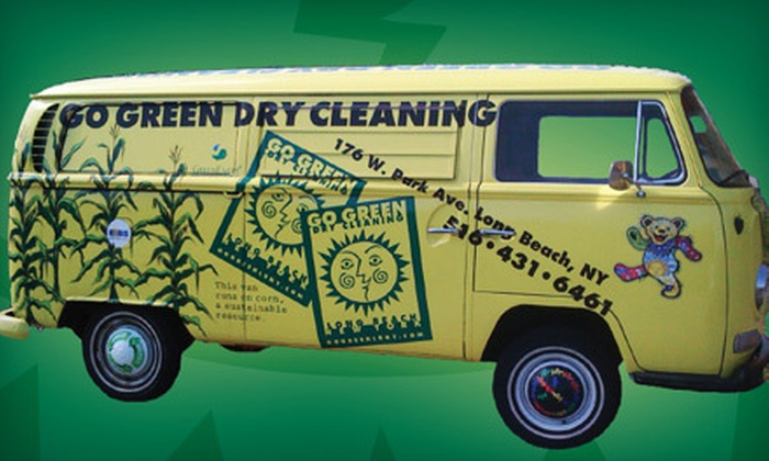 Go Green Dry Cleaning - Multiple Locations: Environmentally Friendly Dry Cleaning from Go Green Dry Cleaning (Up to 60% Off). Two Options Available.