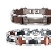 Men's Brown Ion Plated Bracelet in Stainless Steel