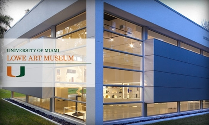 Lowe Art Museum - Riviera: Membership to Lowe Art Museum in Coral Gables. Choose from Two Options.