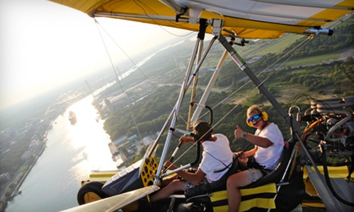 Amphibian Air - Multiple Locations: $50 for a 30-Minute Powered Hang-Gliding Lesson at Amphibian Air in Garden City ($100 Value)