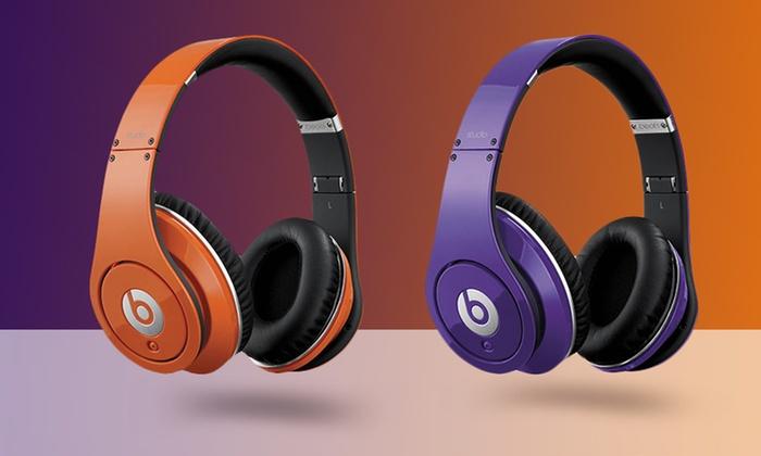 Beats by Dre Studio Headphones: Beats by Dre Studio Headphones in Orange or Purple. Free Shipping.
