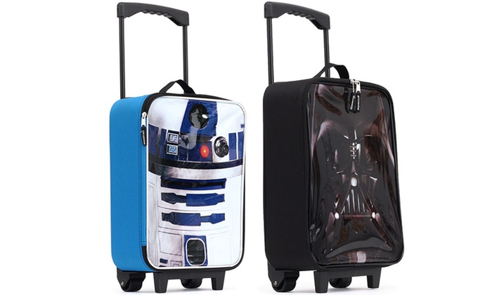 Star Wars R2d2 Or Darth Vader Kids Carry On Luggage Case