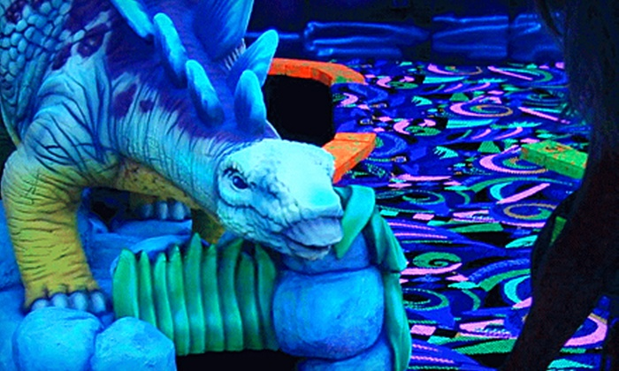Putt N' Blast - Meadowbrook: 3-D Glow-in-the-Dark Mini Putt for Two or Four at Putt N' Blast (55% Off)