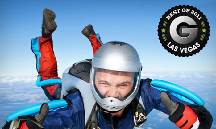 Sin City Skydiving - Clark: $149 for a Tandem Skydive with Round-Trip Limo Service from Sin City Skydiving ($249 Value)