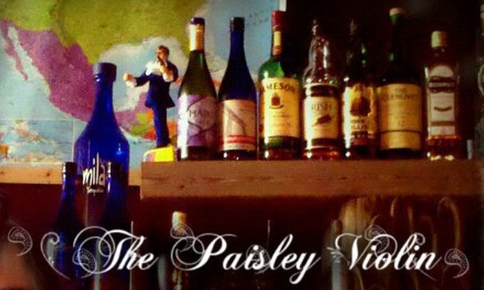 The Paisley Violin - Governmental Mall: $8 for $16 Worth of Casual International Fare and Drinks at the Paisley Violin