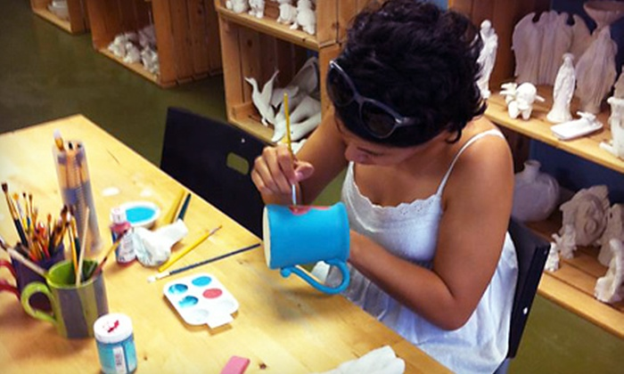 Pottery Painting Pleasures - Bay Area: BYOB or Parent-Child Pottery-Painting Experience for Two at Pottery Painting Pleasures (Half Off)