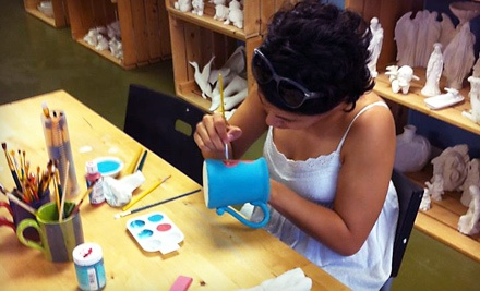 Child and Adult Pottery-Painting Session (up to a $40 value) - Pottery Painting Pleasures in Corpus Christi