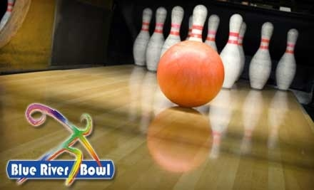 Blue River Bowl: 2-Hours of Unlimited Bowling, Shoe Rental, a Large Pizza, and Soda for 4 - Blue River Bowl in Shelbyville