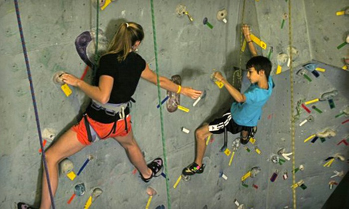Rocksport Indoor Climbing & Outdoor Guiding Center - Glens Falls North: Climbing at Rocksport Indoor Climbing & Outdoor Guiding Center in Queensbury (Up to Half Off). Two Options Available.
