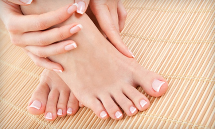 The Nail Shop & The Lounge Nail Spa - Multiple Locations: Pedicure or Mani-Pedi at The Nail Shop & The Lounge Nail Spa