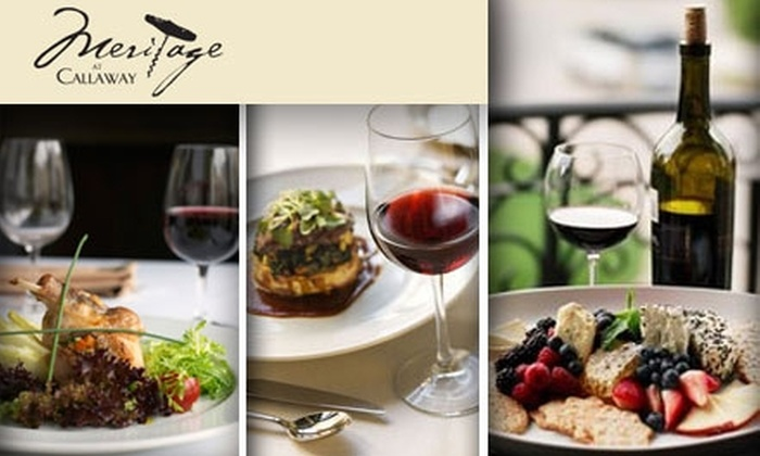 Meritage at Callaway - San Diego: $35 for $75 Worth of Gourmet Cuisine and Drink at Meritage, Plus 10% off Wine Store Purchases