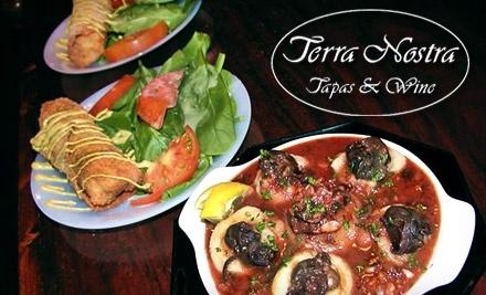 $50 Groupon to Terra Nostra Tapas & Wine - Terra Nostra Tapas & Wine in Chattanooga