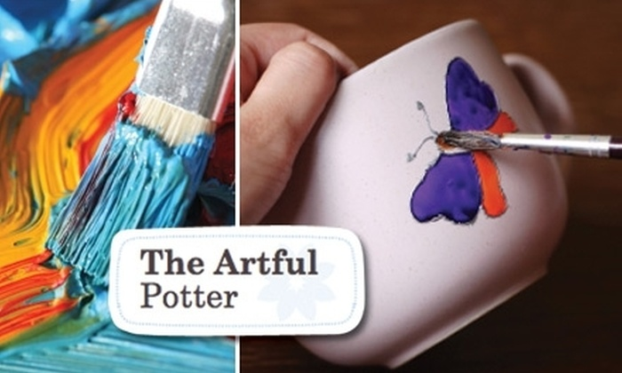 The Artful Potter - Multiple Locations: $10 for $20 Worth of Paint-Your-Own Ceramics at The Artful Potter