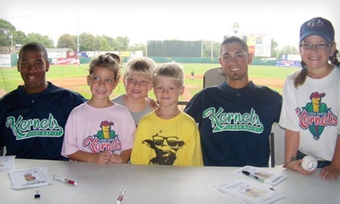 Cedar Rapids Kernels - Cedar Rapids / Iowa City: $10 for Two Club Seats and Program at a Cedar Rapids Kernels Game (Up to $21 Value)