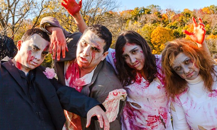 The Infected Zombie 5K Trail Run - Swallow Cliff Woods: Zombie or Human Admission in the Infected Zombie 5K Trail Run on October 5 at Swallow Cliff Woods North (50% Off)
