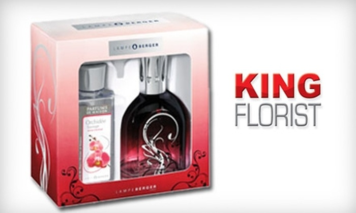 King Florist - Brentwood: $38 for a Lampe Berger Wild-Orchid-Scented Gift Set from King Florist ($75 Value)