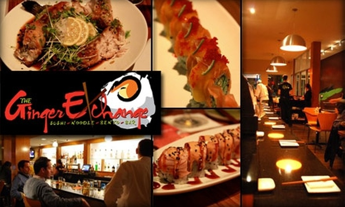 The Ginger Exchange - Boston: $20 for $40 Worth of Sushi, Drinks, and More at The Ginger Exchange