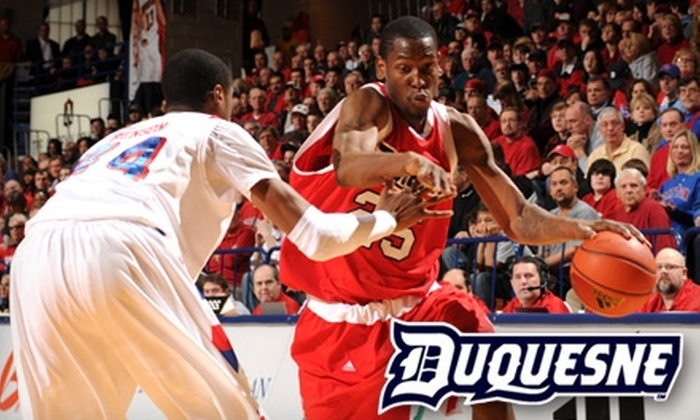 Duquesne Men's Basketball Team - Bluff: $13 for Two Red Chair-Back Tickets to Duquesne Men's Basketball Final Home Game of Season at the A.J. Palumbo Center