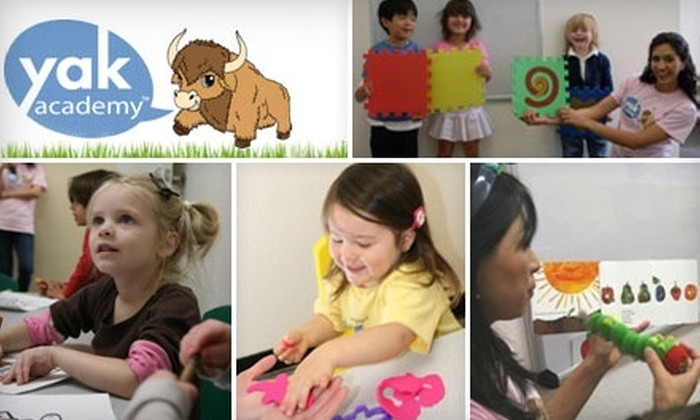 Yak Academy - Northeast Colorado Springs: $49 for One Month of Weekly Children's Language Classes (Up to $146 Value) or $165 for One Month of Preschool Classes (Up to $440 Value) at Yak Academy