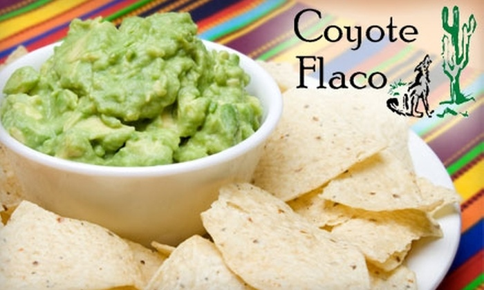Coyote Flaco - Behind the Rocks: $10 for $20 Worth of Mexican Cuisine and Drinks at Coyote Flaco