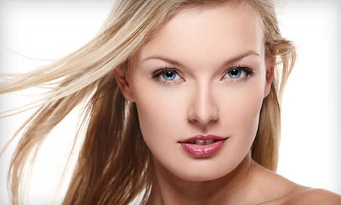 Glo Salon - Grand Ledge: Haircut, Conditioning Treatment, Highlights, and Brow-Shaping Package at Glo Salon (Up to a $142 Value)