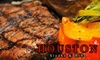 Houston Avenue Bar & Grill - Downtown Toronto: $25 for $50 Worth of Dinner Fare and Drinks at Houston Steak & Ribs