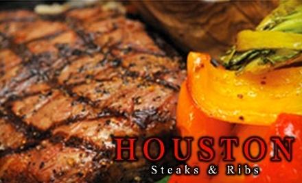 $50 Groupon to Houston Steak & Ribs - Houston Steak & Ribs in Toronto