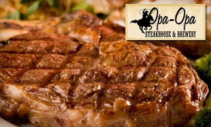 Opa Opa Steakhouse - Southampton: $25 for $50 Worth of Steaks, Seafood, and More at Opa-Opa Steakhouse and Brewery in Southampton