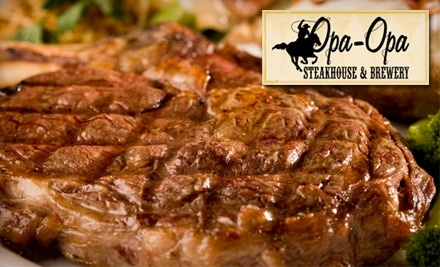 $50 Groupon to Opa Opa Steakhouse and Brewery - Opa Opa Steakhouse in Southampton