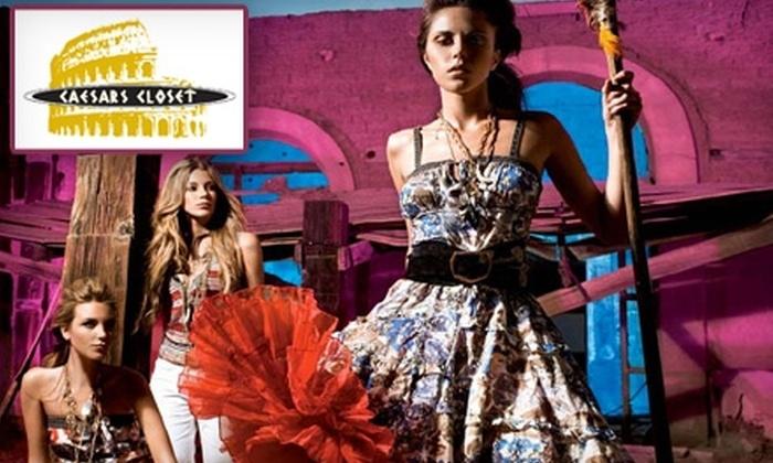 Caesars Closet - Waterloo: $30 for $60 Worth of Designer Clothing at Caesars Closet