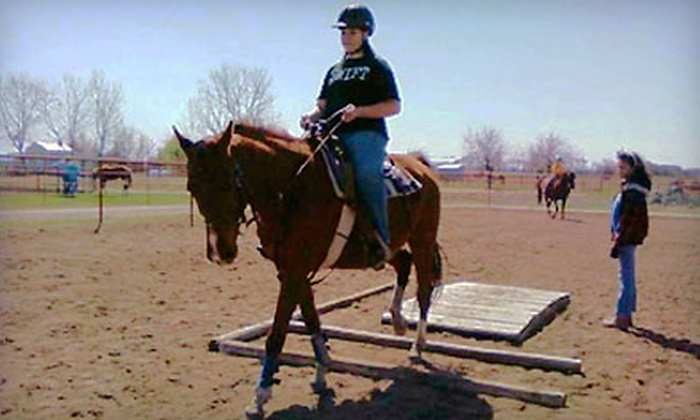 Wichita Riding Academy - Derby: 60-Minute Group Riding Lesson or 2.5-Hour Holiday Riding Session at Wichita Riding Academy in Derby (Up to 51% Off)