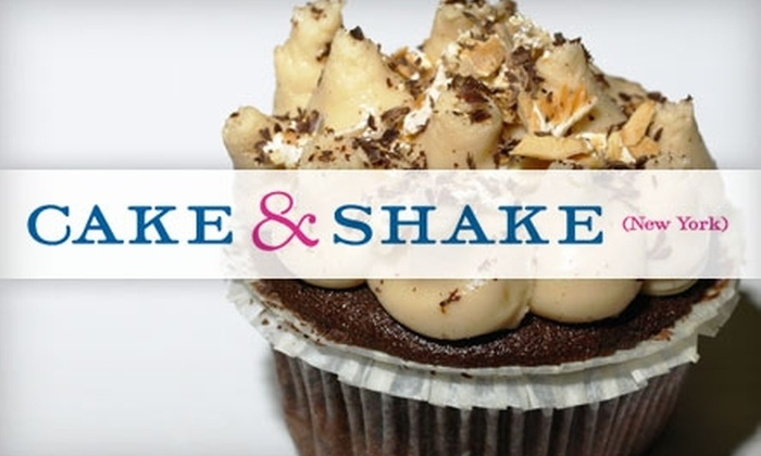 Cake & Shake - Greenwich Village: $6 for $12 Worth of Gourmet Organic Cupcakes and Shakes at Cake & Shake