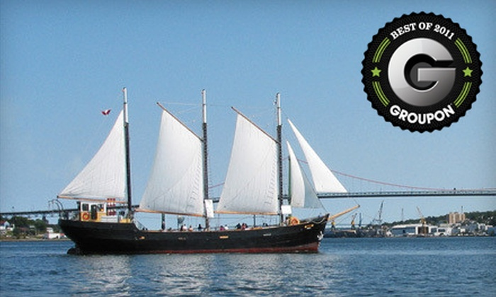 """""""Tall Ship Silva"""" - Downtown Halifax: Harbour Cruise for Two Adults or a Family of Up to Six Aboard """"Tall Ship Silva"""" (Up to 55% Off)"""