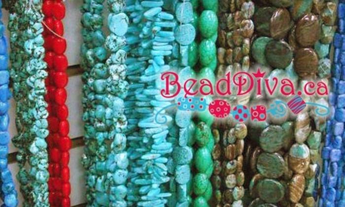 Bead Diva - Sudbury: $20 for $40 Toward Beads, Supplies, Jewellery, and Classes at Bead Diva