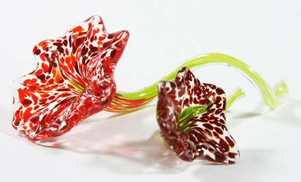 Glass Flower-Sculpting Class for One or Two at Flo Glassblowing (Up to 43% Off)