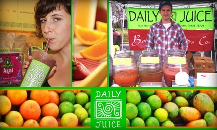 Daily Juice - Multiple Locations: $5 for $10 Worth of Smoothies and Fresh Juices at Daily Juice