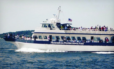 [$25 for One Roundtrip Ferry Ride Between Plymouth and Provincetown from Waterfront Enterprises (Up to $43 Value) Image]