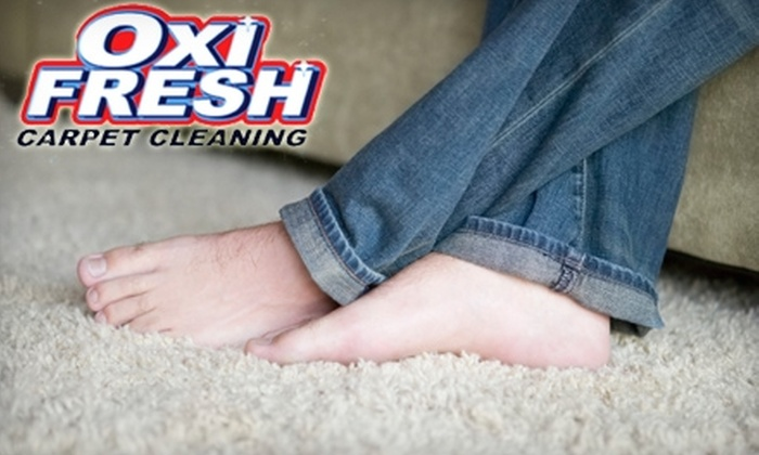 Oxi Fresh - Akron / Canton: $59 for Two Rooms of Carpet Cleaning and Two Rooms of Protectant Application from Oxi Fresh ($136 Value)
