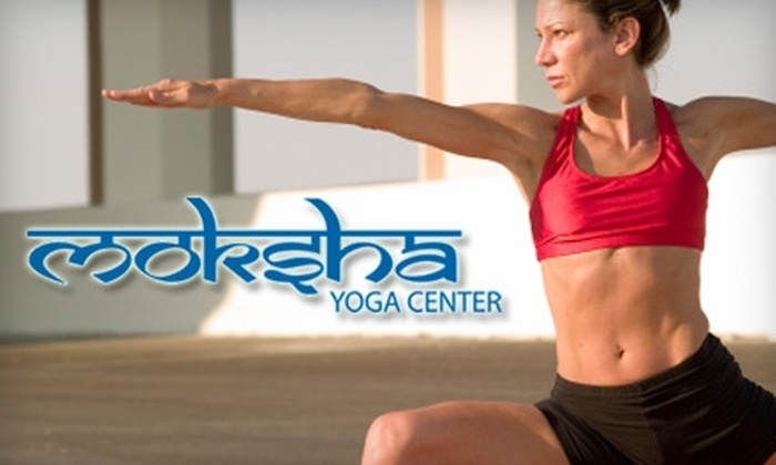 Moksha Yoga Center - Multiple Locations: $29 for Five Yoga Classes at Moksha Yoga Center ($75 Value)