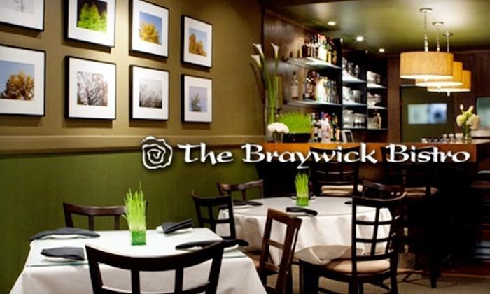 The Braywick Bistro - London, ON: $20 for $40 Worth of Dinner and Drinks (or $8 for $16 Worth of Lunch and Drinks) at Braywick Bistro