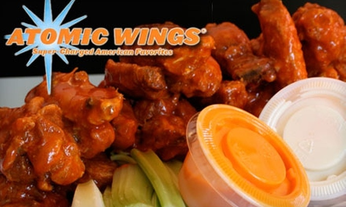 Atomic Wings - Multiple Locations: $12 for $25 Worth of Buffalo Wings, Drinks, and More at Atomic Wings. Choose from Five Locations.