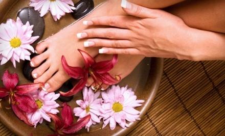 L Salon: 1 Pedicure with Exfoliating Leg and Foot Scrub  - L Salon  in Tulsa