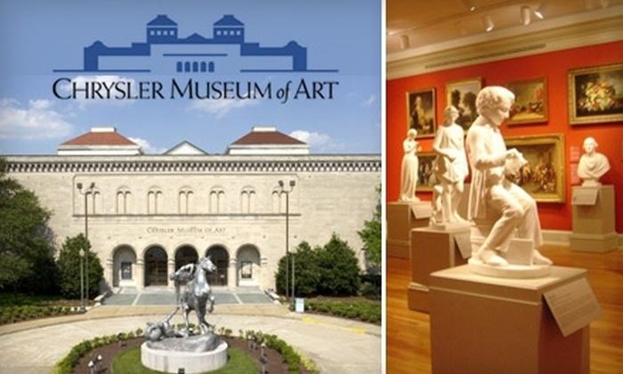 Chrysler Museum of Art - Hampton Roads: $45 for a Household Membership Plus a For Art's Sake Membership at the Chrysler Museum of Art in Norfolk ($105 Value)