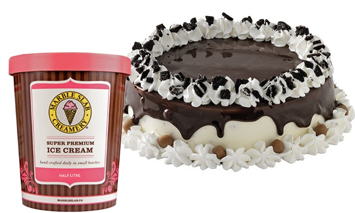 Marble Slab Creamery - Multiple Locations: One Large Cake or Ice Cream and Treats at Marble Slab Creamery (Up to 40% Off)