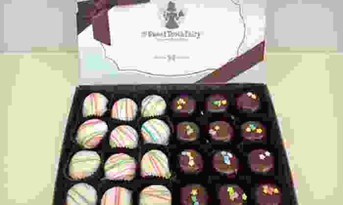 The Sweet Tooth Fairy - Multiple Locations: $12.50 for a Gift Box with 24 White Chocolate Mint and Double Fudge Cakebites at The Sweet Tooth Fairy ($24.95 Value)
