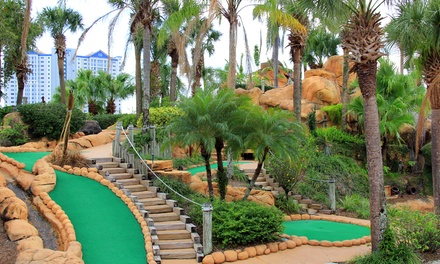 18-Hole Rounds of Mini-Golf with Gator Food at Lost Caverns Adventure Golf (Up to 50% Off). 3 Options Available.