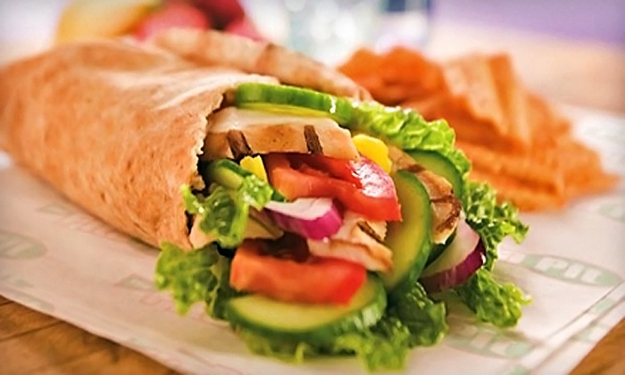The Pita Pit - Granville - Downtown Vancouver: Meal for Two or Four at The Pita Pit (Up to 38% Off)