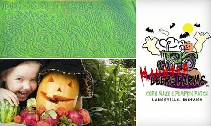 Deere Farms Corn Maze & Pumpkin Patch - Franklin: Adult Admission to Corn Maze or Haunted Maze at Deere Farms Corn Maze & Pumpkin Patch. Choose Between Two Options.