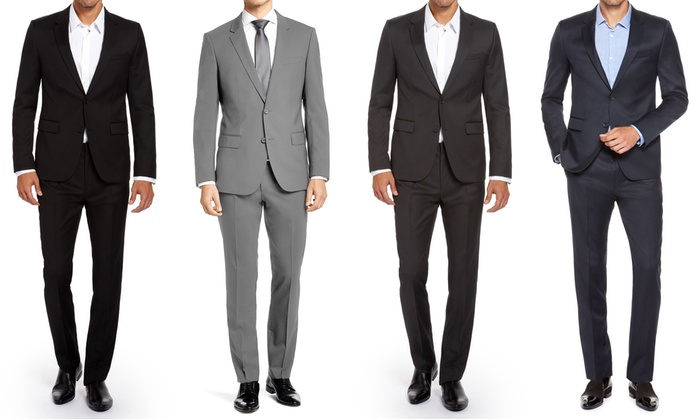 Renoir Men's 2-Piece Slim Suits | Groupon Goods